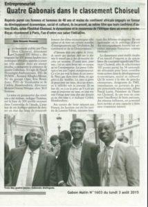 Quatre Gabonais dans le classement Choiseul