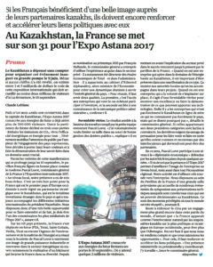 Article l'Opinion - Astana